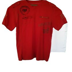 V neck t shirt men pack red large $8.50