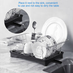 Stainless Steel Kitchen Dish Rack Bowl Drying Utensil Organizer Holder Drainer $26.99