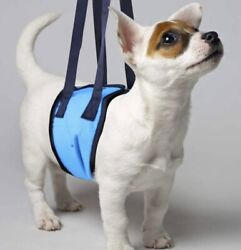 Dog Lift Harness Support Sling Helps Rebab Dog Small Blue New $8.99