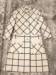 Knits By Thayer Vintage White amp; Black Coat Small No Size Tag $110.00