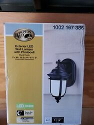 Home Decorators LED Exterior Wall Lantern Sconce w Dusk to Dawn Control