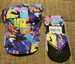 New Loudmouth Golf LMx Pop Culture All Over Adjustable Hat Cap Plus Socks Combo $40.00