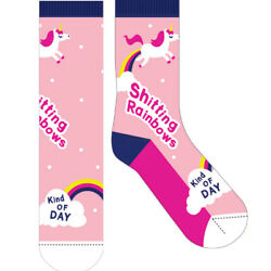 NEW Novelty Fun Socks The Latest Craze in Socks quot;Rainbow Dayquot; AU $6.95