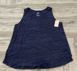 Evri Everyday Tank Top Plus Size Sleeveless Top Supersoft Relaxed Fit Navy $12.99