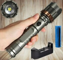 990000LM Ultra Brightest Rechargeable LED Tactical Flashlight Police Torch Light $10.48