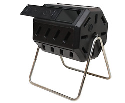 FCMP Outdoor IM4000 Tumbling Composter Black Total capacity 37 gallons $103.99