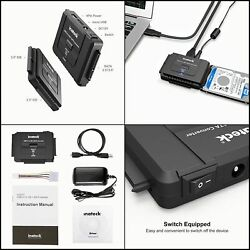 Inateck USB 3.0 to IDE SATA External Hard Drive Reader Fit for Universal 2.5 3.5 $35.22