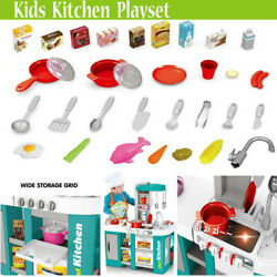 Large Kids Kitchen Playset Play Kitchen For Toddlers Fun With Friends Kitchen $75.96