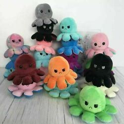 Reversible Flip Octopus Plush Stuffed Toy Soft Animal Home Accessories Baby Gift $14.99