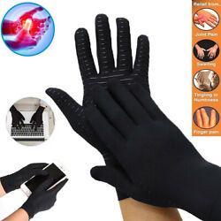 Copper Compression Arthritis Gloves Finger Fit Carpal Tunnel Typing Support Hand $8.45