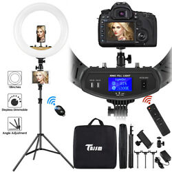 18quot; LED Ring Light Kit with Stand Dimmable 6000K For Makeup Phone Camera Youtube $49.99