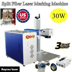 US 30W Split Fiber Laser Marking Machine Metal Laser Marker Rotation Axis FDA $4087.40