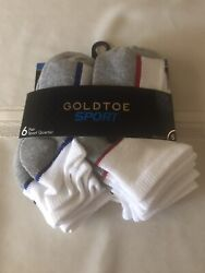 Gold Toe Sport 6 Pair Pack Boys Socks Size Small $8.50