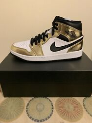 Nike Air Jordan 1 MID GOLD Brand New Sz 8 Mens $199.00