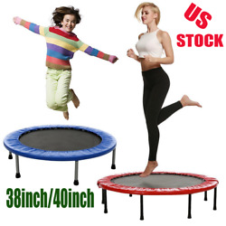 Foldable Mini Trampoline Rebounder Quiet and Safe Bounce Spring Mini Bouncer USA $61.99