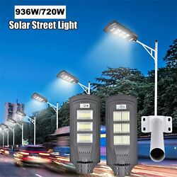 936W Solar LED Street Light Commercial Outdoor IP67 Area Security Flood Lamp