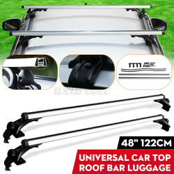 Pair 48#x27;#x27; Universal Car Top Roof Rack Cross Tube Bars Cargo Luggage Carrier Set $60.32
