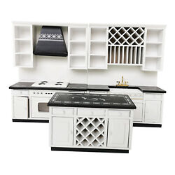 1 12 Dollhouse Wooden Modern Kitchen Cabinet Set Dining Room Furniture Toys $47.75
