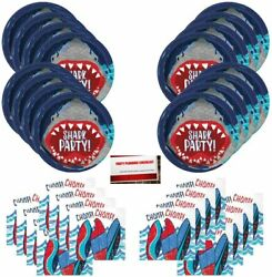 Shark Teeth Great White Party Supplies Bundle Pack for 16 Guests Plus Party Pla $24.97