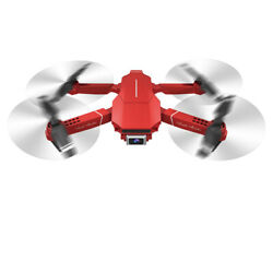 E98 RC Drone with Camera 4K Dual Camera RC Quadcopter FPV Folding Drone Red X6G6 $55.79