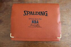 Spalding Official Game Ball NBA Portfolio Folder Leather David Stern Basketball $9.99