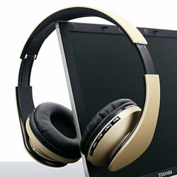 Wired Headphones Bluetooth Headset Noise Cancelling Over Ear With Microphone $18.99