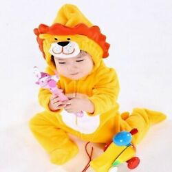 Lion Newborn Baby Winter Hoodie Clothes Outwear Rompers Boy Jumpsuit $17.50