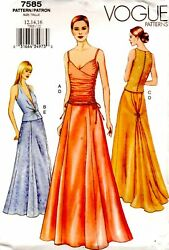 Formal Top and Skirt Separates sz 12 14 16 Vogue Sewing Pattern #7585 C $19.95