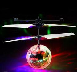 Flash Flying Ball Infrared Induction Colorful LED Disco RC Helicopter kids Toy $11.90