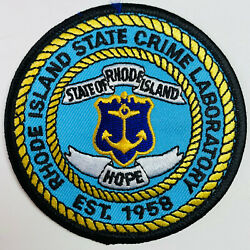 Rhode Island State Police Crime Lab Patch A2 $8.49