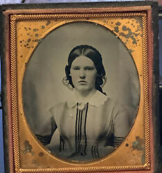 Ambrotype Of Lovely Young Women Wearing Interesting Dress $34.00