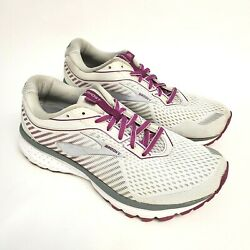 Brooks Ghost 12 Womens Size 7.5 D Wide 1203051D186 Running Shoes White Purple $49.95