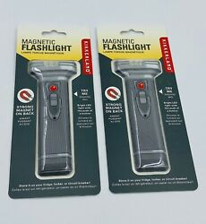 Magnetic Flashlight W Super Bright LED Light amp; Strong Magnetic Hold Lot Of 2 $15.95