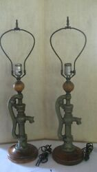Water Pump Antique Lamps $195.00