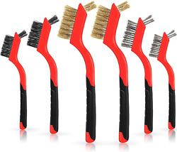 6 Pieces Mini Wire Cleaning Brush Detailing Wire Brush Crimped Scratch Brush Set $14.99