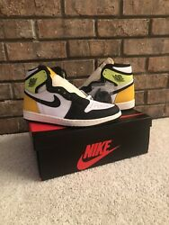 Air Jordan 1 High Volt University Gold Size 8 Mens IN HAND SHIPS OUT FAST $220.00
