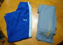 Boys Youth Large Nike And Under Armour Active Pants