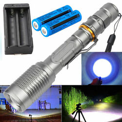 990000LM Super Bright Lamp Rechargeable T6 LED Flashlight Torch LightBattChar $11.49