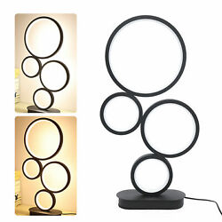 Modern LED Table Lamp Dimmable Creative Design 4 Circle Bedside Lighting Bedroom $47.00