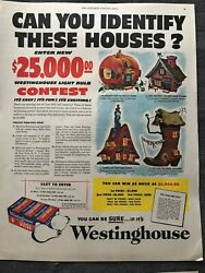 Westinghouse Light Bulbs Can You Identify These Homes 1952 Vintage Print AD A60