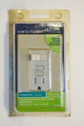 LEVITON SWITCH TAMPER RESISTANT GFCI OUTLET and SWITCH T7299 IVORY