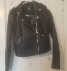 Wild Fable Black Faux Leather Jacket Women#x27;s Small With Tags $12.00