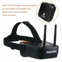 5.8Ghz Mini FPV Goggles 40CH Video Headset Glasses with RP SMA Antenna For Drone $49.98