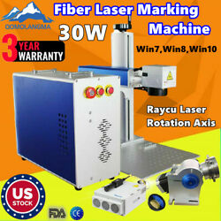 US 30W Raycus Fiber Laser Marking Machine CNC Laser Metal Engraving Logo Phone $3987.48