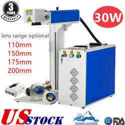 US 30W Split Fiber Laser Marking Machine Laser Engraving Machine Rotary Axis $4187.42