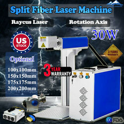 US 30W Split Fiber Laser Marking Machine Raycus Laser EngraverRotation Axis FDA $4187.42