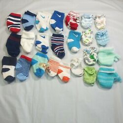 24 Pieces Baby Boys Clothes Size NB 3M 15 pairs baby socks 9 pairs baby gloves $10.00