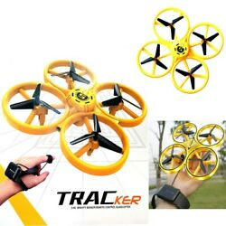 HAND CONTROLLED Drone TRACKER RC LED Aircraft for Kids Fast Shipping from EU $50.00