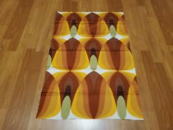 Awesome RARE Vintage Mid Century retro 70s odd golden egg droplets sml fabric $20.00