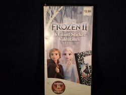 Disney Frozen II 16 Giant Sticker Valentines For Ages 3  T5 $5.99
